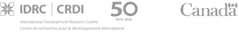 IDRC logo. International Development Research Centre. 50 years, from 1970 to 2020. Canada